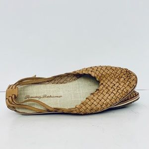 Tommy Bahama Frinna Hairache leather weave woven